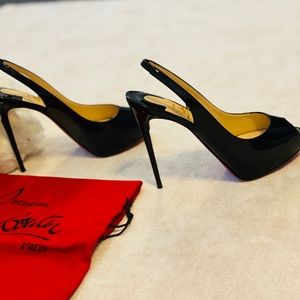 Christian Louboutin Shoes - Christian Louboutin Patent Red Sole Slingback